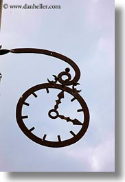 clocks, europe, hungary, irons, signs, sky, tarcal, vertical, photograph