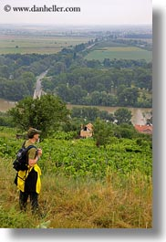europe, hikers, hungary, overlooking, people, tokaj hills, towns, vertical, photograph