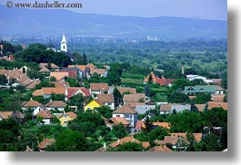churches, europe, horizontal, hungary, overlook, scenics, tokaj hills, towns, photograph