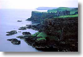 causeway coast, dunluce, europe, giant's causeway, giants causeway, horizontal, ireland, irish, photograph