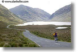 bicycles, bikers, connaught, connemara, europe, horizontal, ireland, irish, jills, long, mayo county, roads, slow exposure, western ireland, photograph