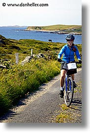 bicycles, bikers, connaught, connemara, europe, ireland, irish, jills, mayo county, vertical, western ireland, photograph