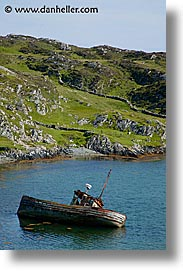 bay, connaught, connemara, europe, inishbofin, ireland, irish, mayo county, vertical, views, western ireland, photograph