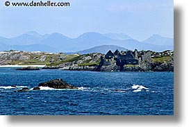 architectural ruins, castles, connaught, connemara, europe, horizontal, inishbofin, ireland, irish, mayo county, western ireland, photograph
