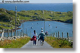 connaught, connemara, couples, europe, hiking, horizontal, inishbofin, ireland, irish, mayo county, western ireland, photograph