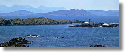 connaught, connemara, europe, horizontal, houses, inishbofin, ireland, irish, lights, mayo county, panoramic, western ireland, photograph