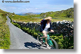 connaught, connemara, europe, horizontal, inishbofin, ireland, irish, mayo county, roads, western ireland, winding, photograph