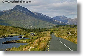 connaught, connemara, europe, horizontal, ireland, irish, landscapes, long, mayo county, roads, western ireland, photograph
