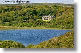 connaught, connemara, europe, horizontal, ireland, irish, landscapes, mansion, mayo county, pond, western ireland, photograph