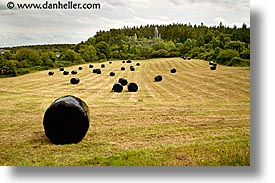 connaught, connemara, europe, haybales, horizontal, ireland, irish, landscapes, mayo county, western ireland, wrapped, photograph