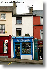 connaught, connemara, europe, ireland, irish, mayo county, narrow, stores, vertical, western ireland, photograph