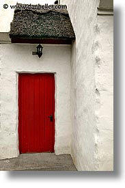 connaught, connemara, doors, europe, ireland, irish, mayo county, paddys, red, vertical, western ireland, photograph