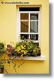 connaught, connemara, europe, ireland, irish, mayo county, vertical, western ireland, windows, yellow, photograph