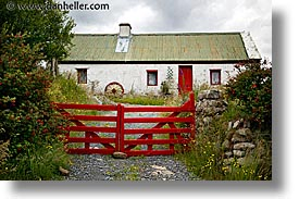 connaught, connemara, europe, fences, horizontal, ireland, irish, mayo county, red, western ireland, photograph
