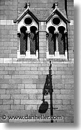 black and white, buildings, capital, churches, cities, dublin, eastern ireland, europe, ireland, irish, leinster, shadows, vertical, photograph