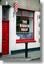 barbers, capital, cities, dalkey, dublin, eastern ireland, europe, ireland, irish, leinster, shops, vertical, photograph