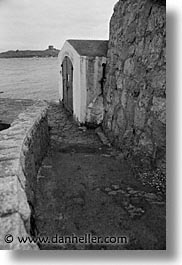 black and white, capital, cities, dalkey, dublin, eastern ireland, europe, gatehouse, ireland, irish, leinster, vertical, photograph