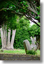 capital, cities, dalkey, dublin, eastern ireland, europe, graves, ireland, irish, leinster, shady, vertical, photograph