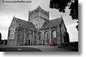 black and white, brigids, churches, color composite, color/bw composite, eastern ireland, europe, horizontal, ireland, irish, kildare, leinster, photograph