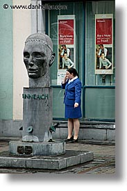canyouhearmenow, cellphone, eastern ireland, europe, ireland, irish, kildare, leinster, statues, vertical, womens, photograph