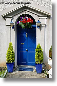 Blue door for Location of doors and windows