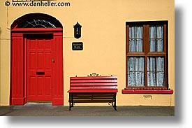 cork, cork county, doors, europe, horizontal, ireland, irish, munster, red, walls, yellow, youghal, photograph