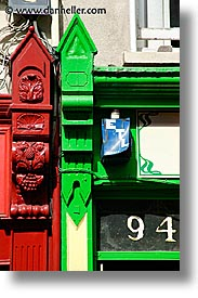 cork, cork county, europe, green, ireland, irish, munster, red, trim, vertical, youghal, photograph