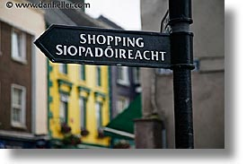 cork, cork county, europe, horizontal, ireland, irish, munster, shopping, signs, youghal, photograph