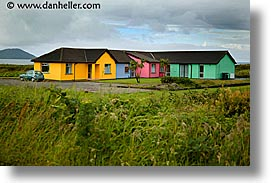 colored, cork county, europe, homes, horizontal, ireland, irish, kerry, kerry penninsula, munster, ring of kerry, waterford county, western ireland, photograph