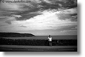 black and white, cork county, europe, horizontal, ireland, irish, jills, kerry, kerry penninsula, munster, ocean, ring of kerry, waterford county, western ireland, photograph