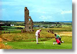 castles, cork county, europe, golf, horizontal, ireland, irish, loop head, loophead penninsula, munster, photograph