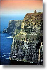 cliffs of moher, cork county, europe, ireland, irish, moher cliffs, munster, obriens, towers, vertical, photograph