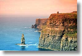 cliffs of moher, cork county, europe, horizontal, ireland, irish, moher cliffs, munster, obriens, towers, photograph