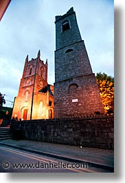 athlone, churches, county shannon, europe, evening, ireland, irish, shannon, shannon river, slow exposure, vertical, photograph