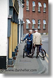 athlone, bicycles, county shannon, couples, europe, ireland, irish, old, shannon, shannon river, vertical, photograph