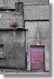 athlone, black and white, county shannon, doors, europe, ireland, irish, pink, shannon, shannon river, vertical, photograph