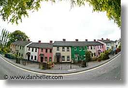 athlone, county shannon, dublin, europe, fisheye lens, horizontal, houses, ireland, irish, rows, shannon, shannon river, photograph