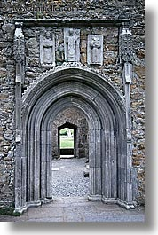 clonmacnois, county shannon, doors, europe, gothic, ireland, shannon, shannon river, vertical, photograph