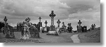 black and white, clonmacnois, county shannon, crosses, dublin, europe, high, horizontal, ireland, irish, panoramic, shannon, shannon river, photograph