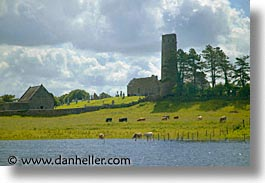 clonmacnois, county shannon, dublin, europe, horizontal, ireland, irish, round, shannon, shannon river, towers, photograph