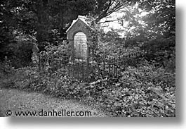 black and white, county shannon, dublin, europe, gates, graves, horizontal, ireland, irish, shannon, shannon river, photograph