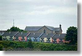 county shannon, dublin, europe, horizontal, houses, ireland, irish, killaloe, rows, shannon, shannon river, photograph