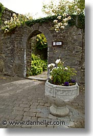 county shannon, europe, flowers, gates, ireland, irish, lough derg, shannon, shannon river, vertical, photograph