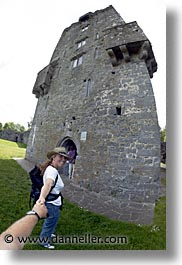 aughnanure, castles, county shannon, europe, fisheye lens, ireland, irish, shannon, shannon river, vertical, photograph