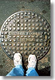 county shannon, europe, ireland, irish, limerick, manholes, shannon, shannon river, vertical, photograph