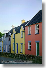 colored, county shannon, europe, homes, ireland, irish, mount shannon, shannon, shannon river, vertical, photograph