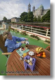 boats, brkfst, europe, foods, ireland, irish, jills, river barge, shannon princess, shannon princess ii, vertical, water vessel, photograph