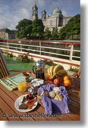 boats, brkfst, europe, foods, ireland, irish, mist, river barge, shannon princess, shannon princess ii, vertical, water vessel, photograph