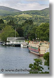 boats, europe, ireland, irish, killaloe, river barge, shannon princess, shannon princess ii, vertical, water vessel, photograph