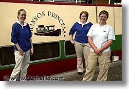boats, crew, europe, horizontal, ireland, irish, people, river barge, shannon princess, shannon princess ii, water vessel, photograph